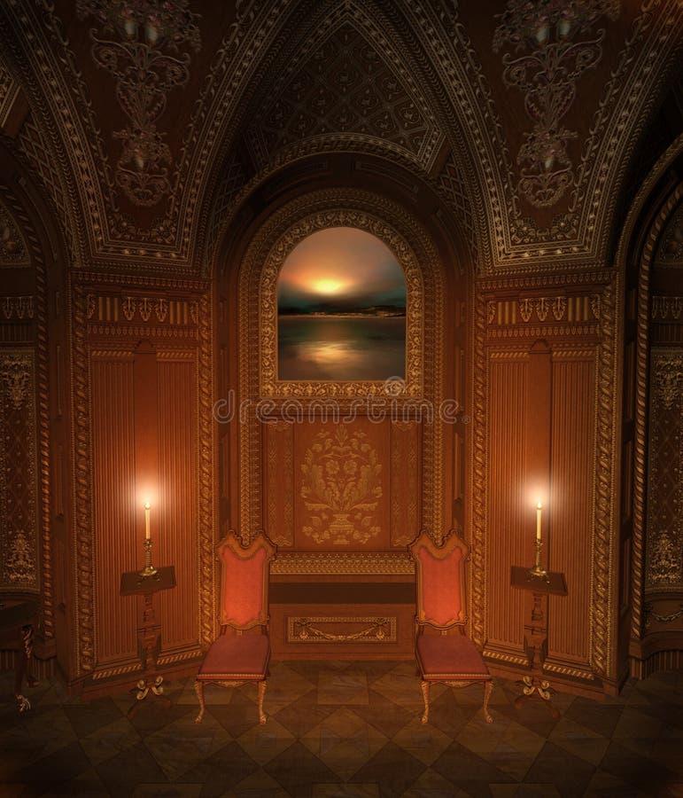 Download Baroque room 5 stock illustration. Illustration of dark - 14131260