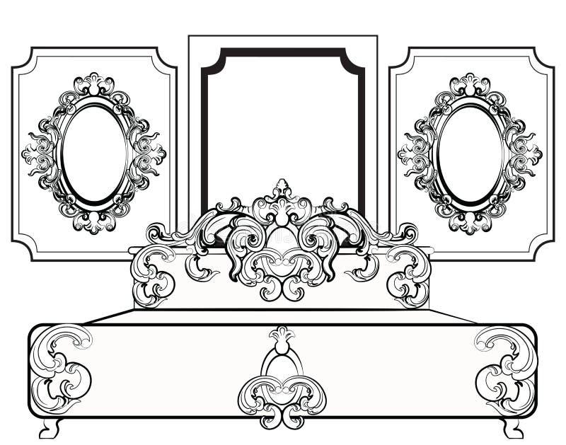 Baroque Furniture Stock Illustration Illustration Of