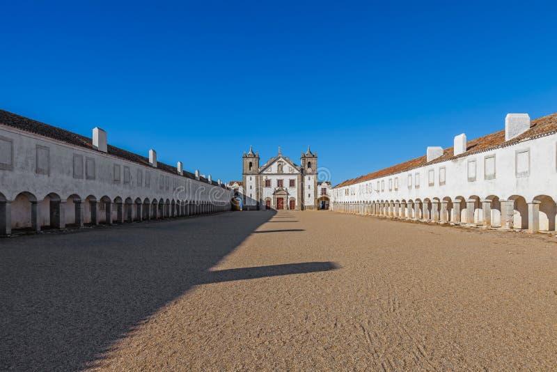 Baroque Sanctuary of Nossa Senhora do Cabo in Espichel Cape royalty free stock images