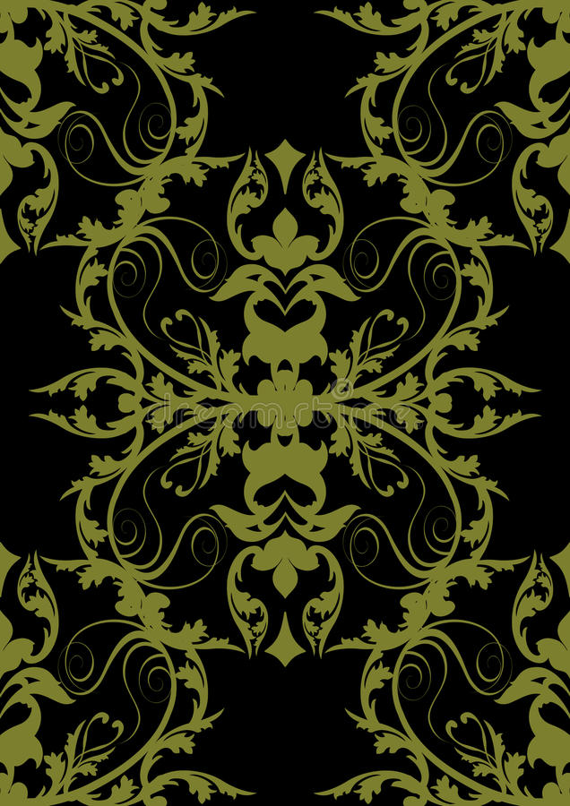 Baroque seamless gold black royalty free illustration