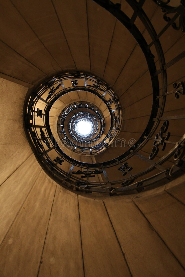 Baroque stairs in Budapest - Hungary stock image