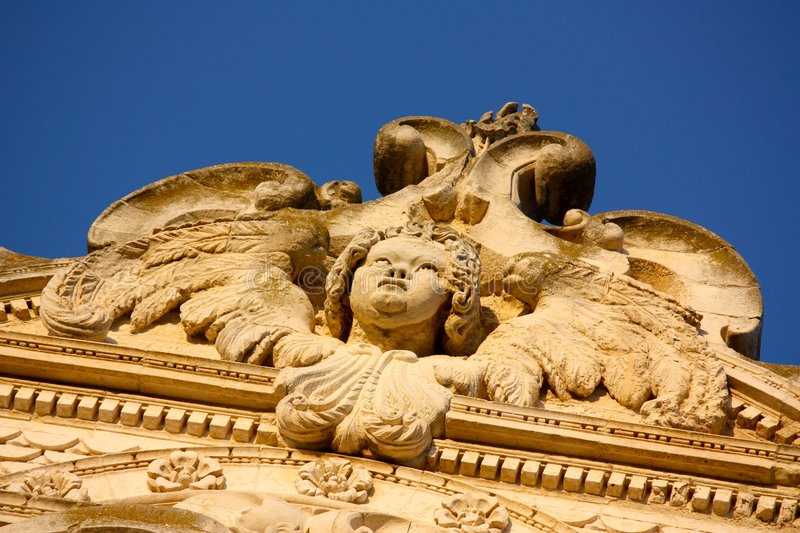 Baroque statue in Lecce, Italy royalty free stock photography