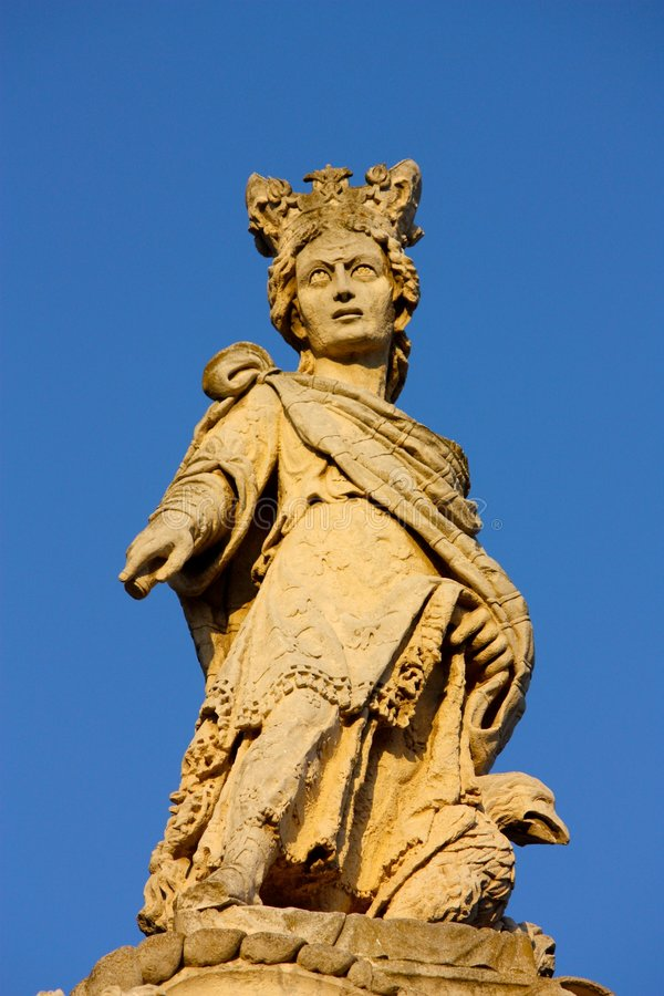 Baroque statue in Lecce, Italy stock photos