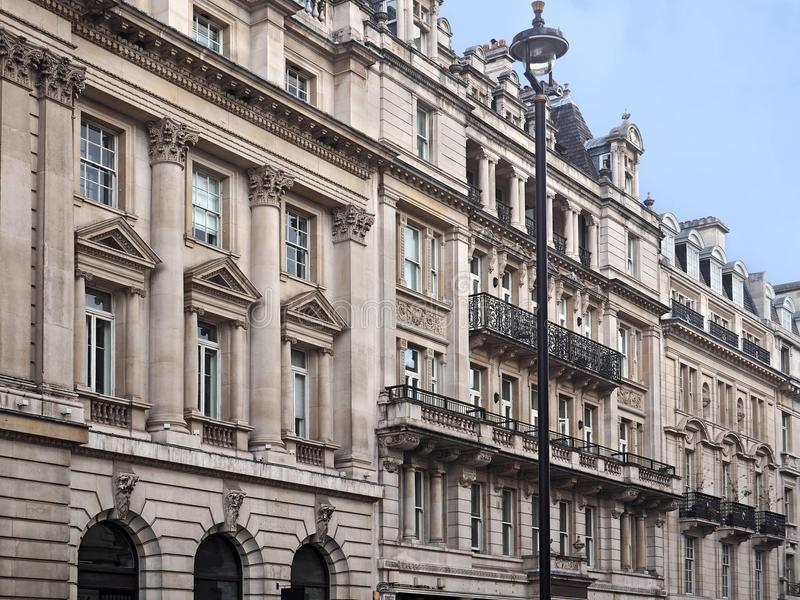 Baroque style apartment buildings. London royalty free stock photo