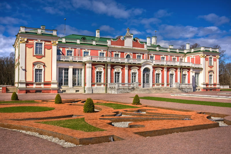 Baroque style castle in Kadriorg Tallinn. Estonia stock photography