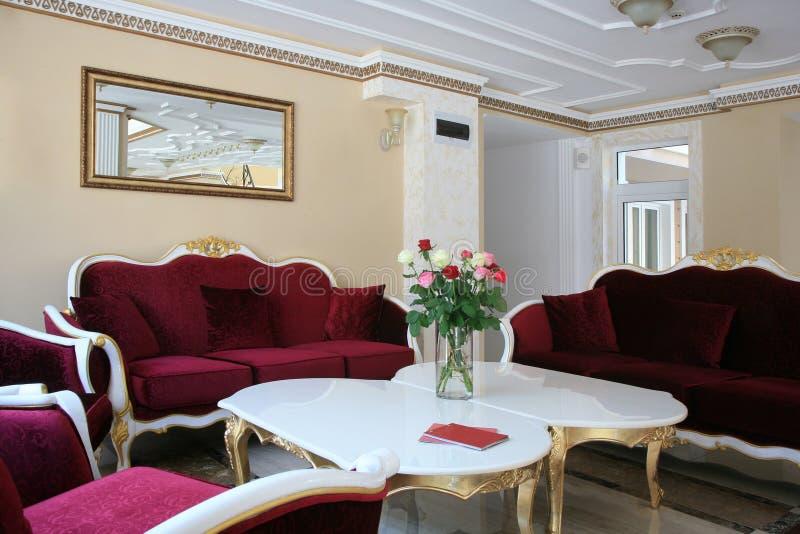 Baroque style hotel interior stock photos