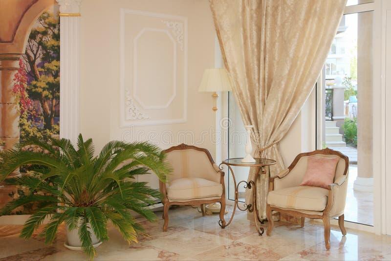 Baroque style hotel interior royalty free stock photos