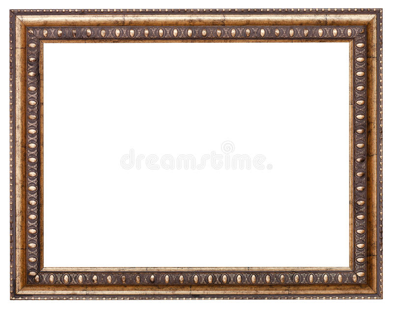 Baroque style picture frame with cut out canvas royalty free stock photo