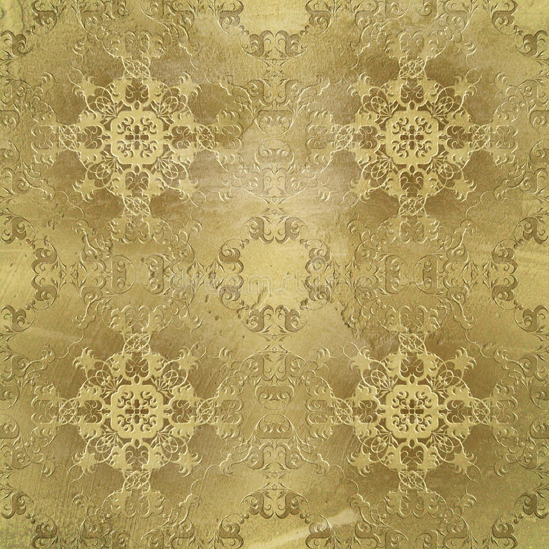 Baroque style textura. Baroque textura on grunge background royalty free stock photo