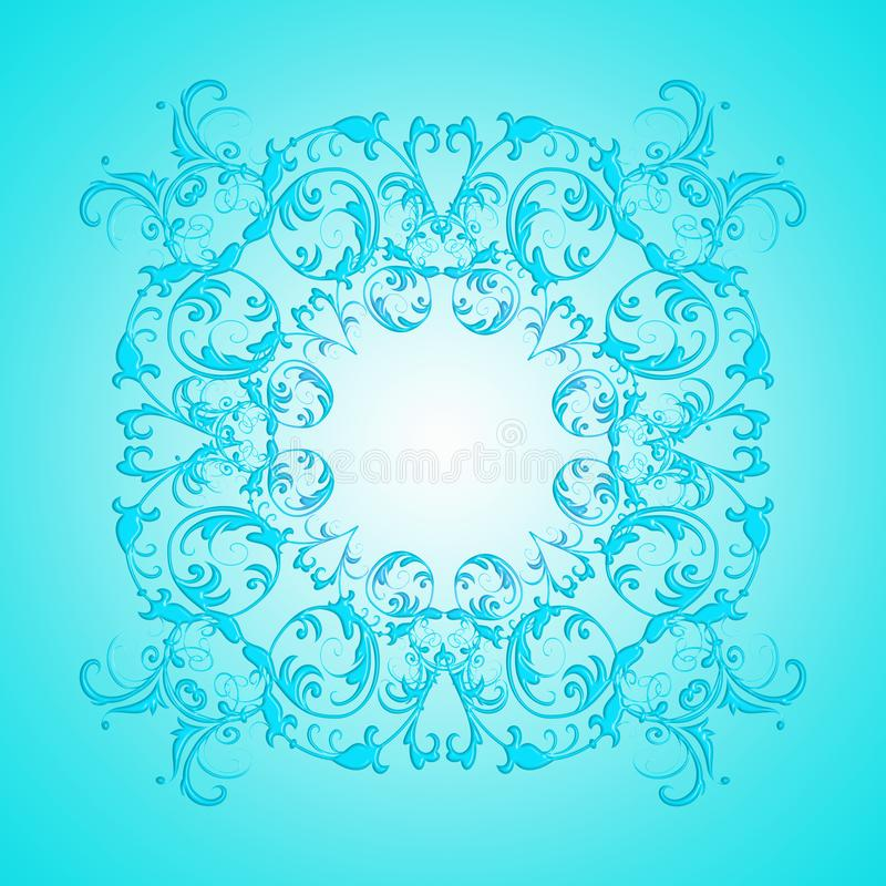 Baroque style turquoise gradient texture royalty free stock photography