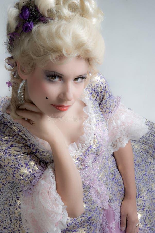 Baroque style woman royalty free stock photos