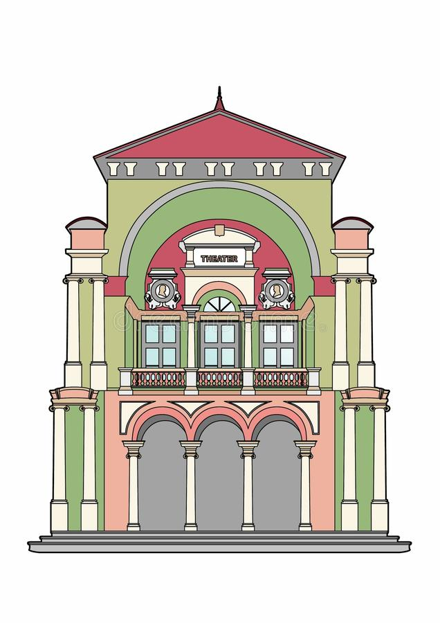 Baroque theater royalty free illustration