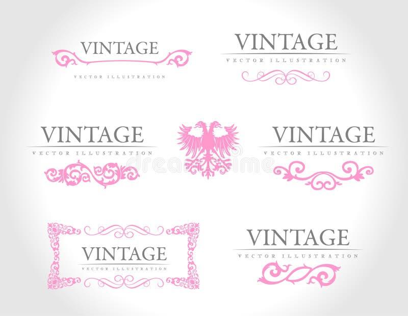 Baroque vintage royal design elements stock illustration