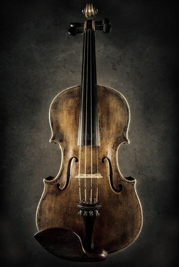 Baroque violin. Close up of a baroque violin stock photo