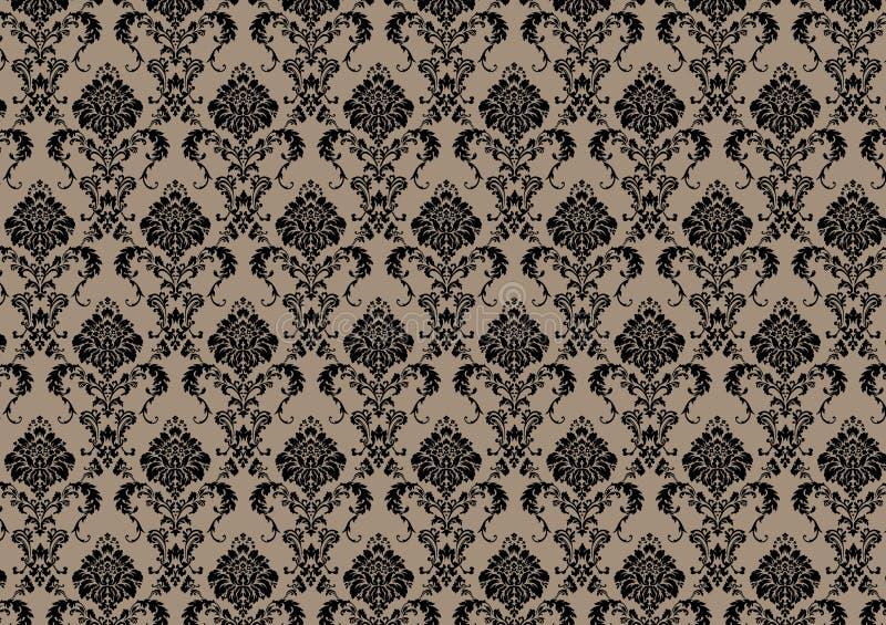 Baroque wallpaper royalty free illustration