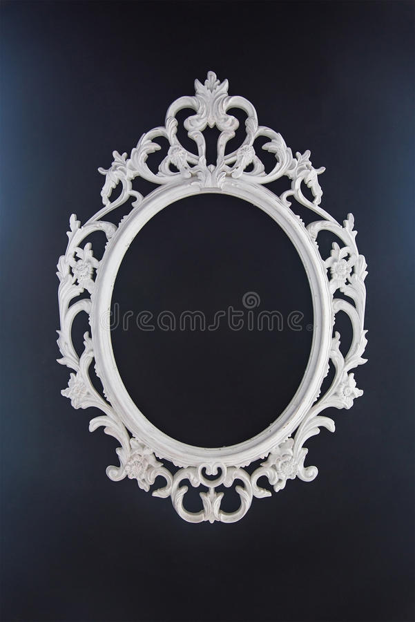Baroque white vinage Frame royalty free stock photography