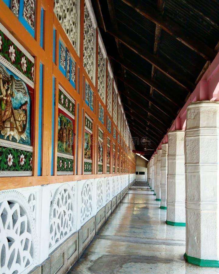 Barpeta Kirtanghar. Beautiful ancient architecture of Barpeta Kirtanghar in Assam, India royalty free stock images