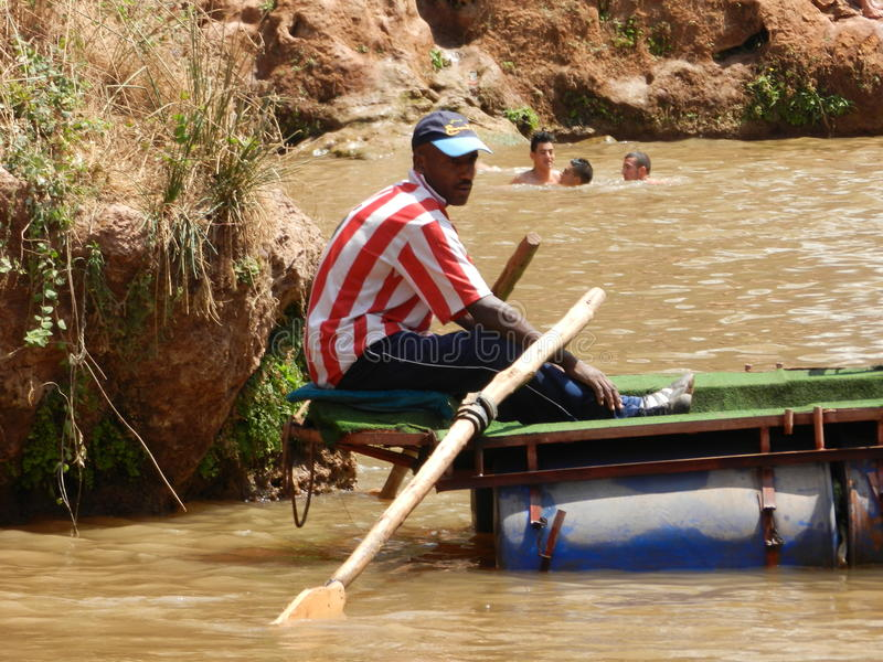 Barqueiro marroquino imagens de stock royalty free