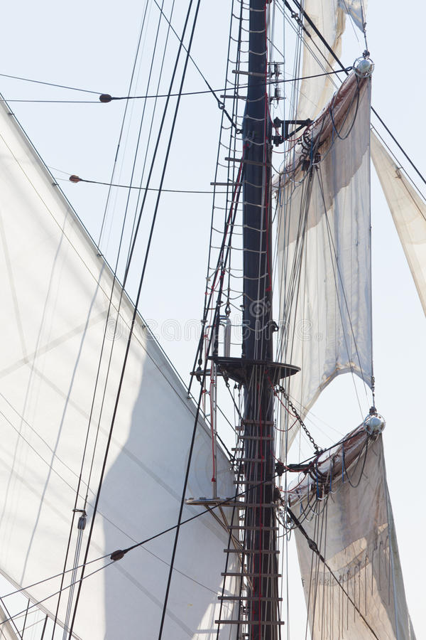 Free Barquentine Yacht Sails And Rigging Background Stock Photography - 26020312