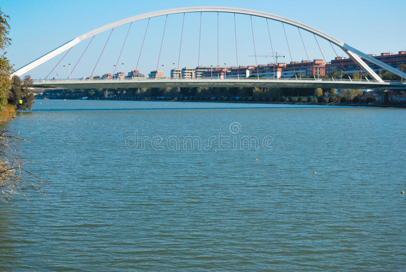 Barqueta bridge royalty free stock photo