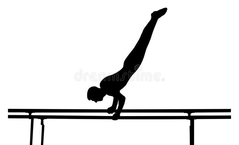 Barr gymnast till konkurrens vektor illustrationer