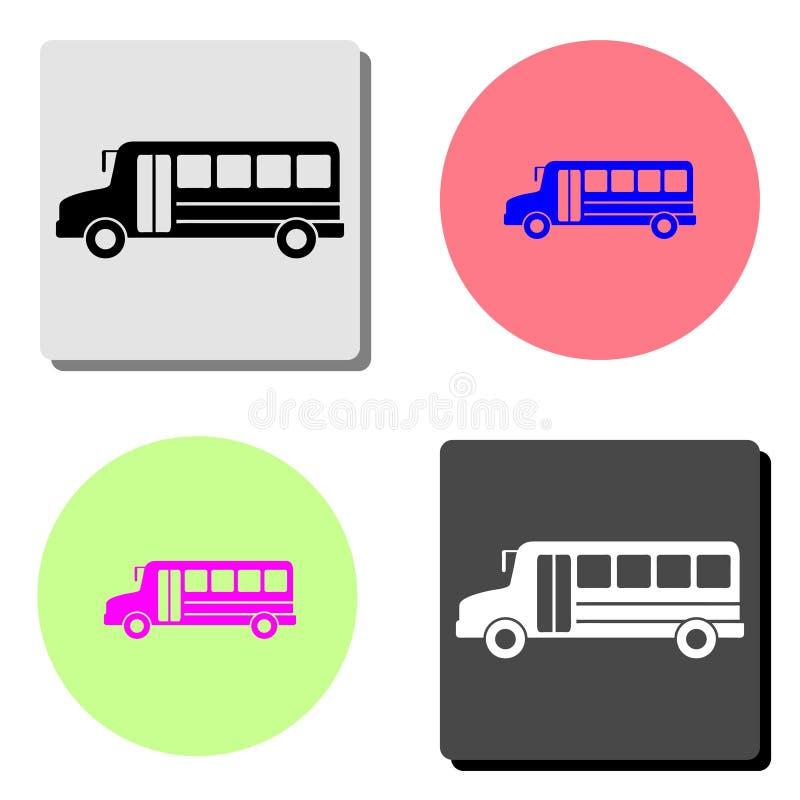 barra-ônibus Ícone liso do vetor ilustração stock