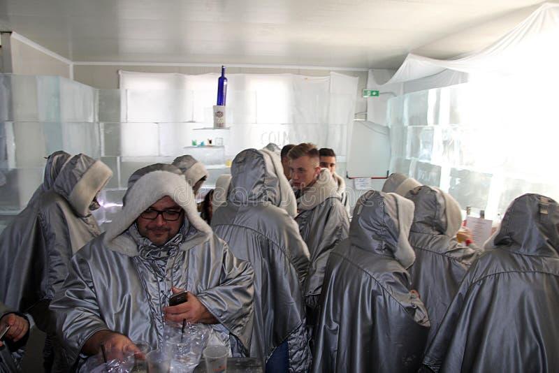 Barra aglomerada do gelo fotos de stock