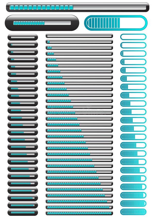 Barra animated de carregamento da indicação ilustração do vetor