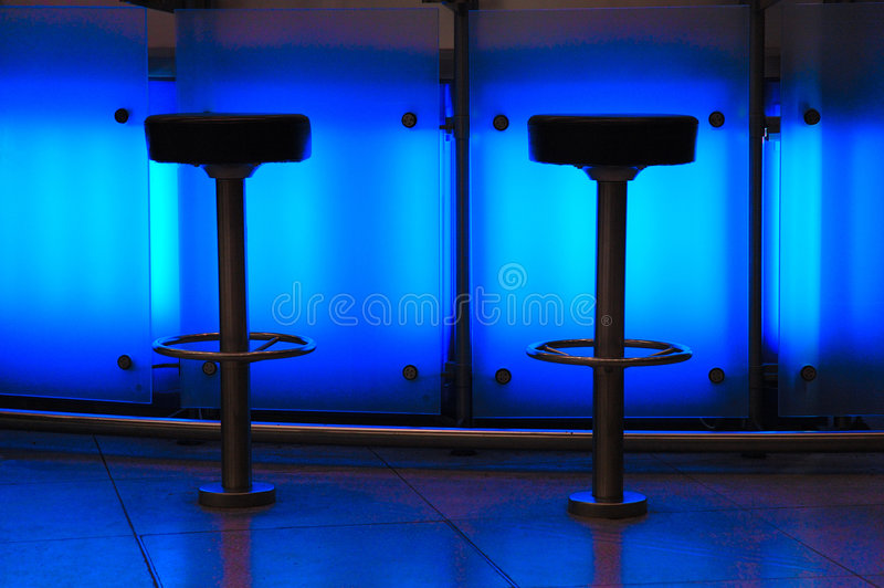 Barra azul imagens de stock royalty free