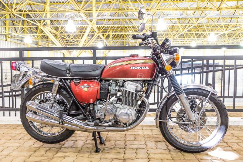 BARRA BONITA, БРАЗИЛИЯ - 17-ОЕ ИЮНЯ 2017: Винтажный мотоцикл i Honda стоковые изображения rf
