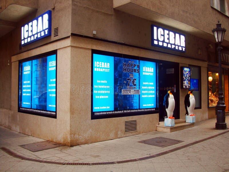 Barra Budapest/Jegbar Budapest do gelo fotos de stock royalty free