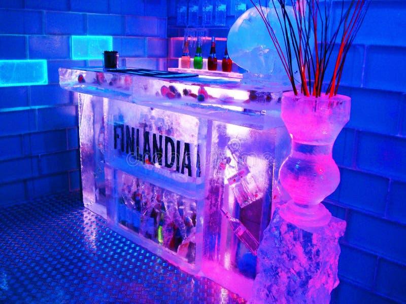 Barra Budapest/Jegbar Budapest do gelo foto de stock