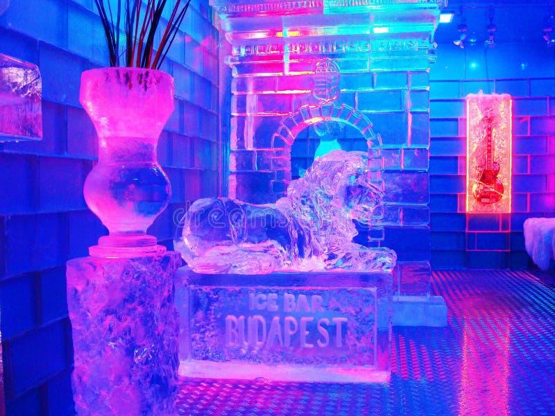 Barra Budapest/Jegbar Budapest do gelo fotografia de stock