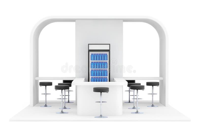Barra, café, cafetería, concepto del interior de los alimentos de preparación rápida representación 3d ilustración del vector