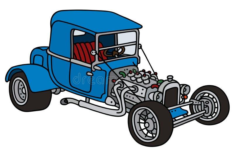 Barra caliente azul stock de ilustración