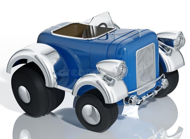 Barra caliente del coche azul. stock de ilustración