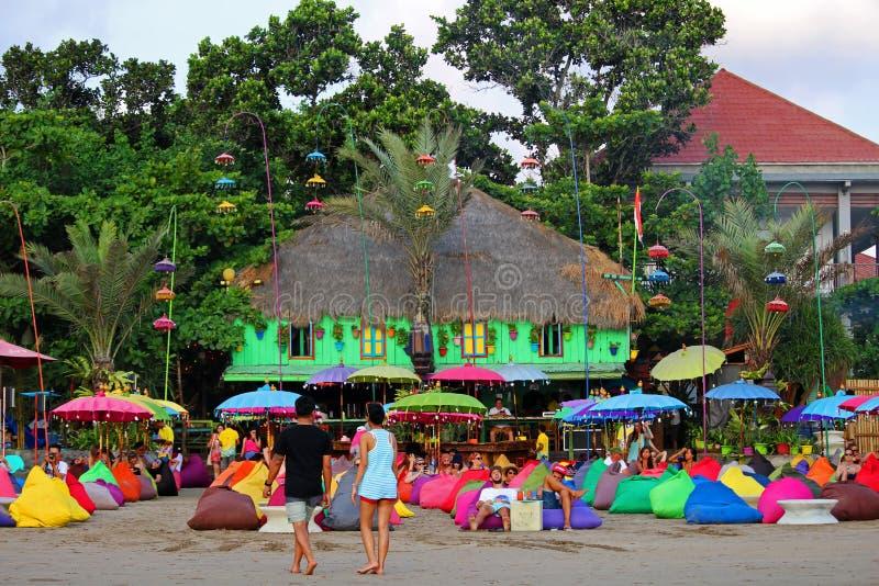 Barra colorida da praia fotos de stock