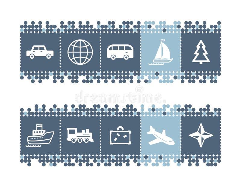 barra com ícones do curso ilustração royalty free