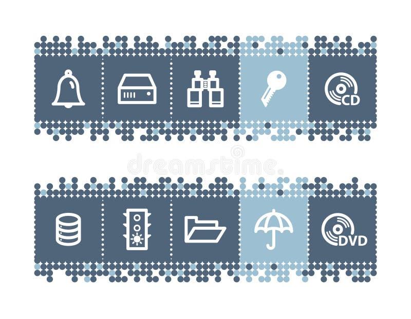 barra con le icone del file-server royalty illustrazione gratis