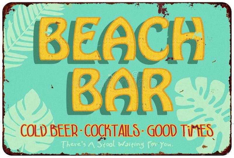 Barra da praia ilustração stock
