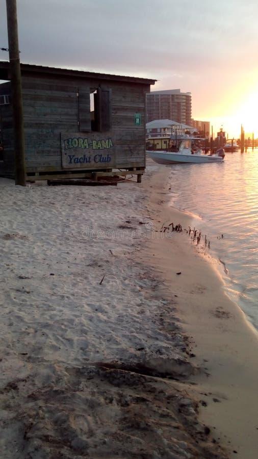 Barra da praia da flora-Bama fotos de stock
