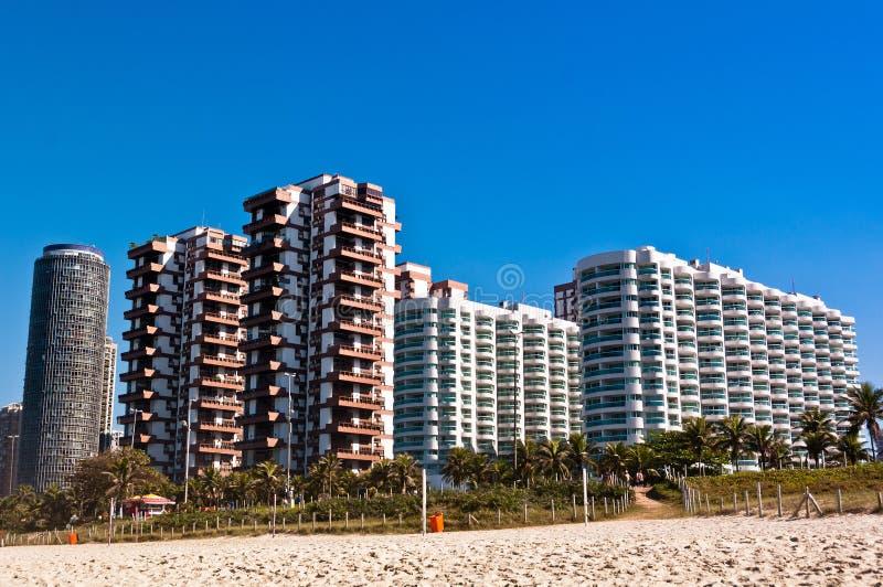 Barra da Tijuca Beach i Rio de Janeiro royaltyfria bilder