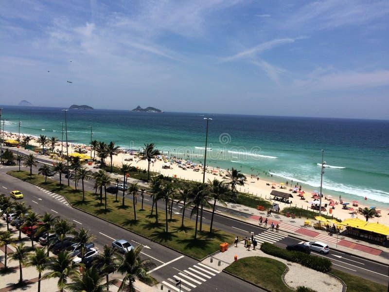 Barra da Tijuca beach royalty free stock image
