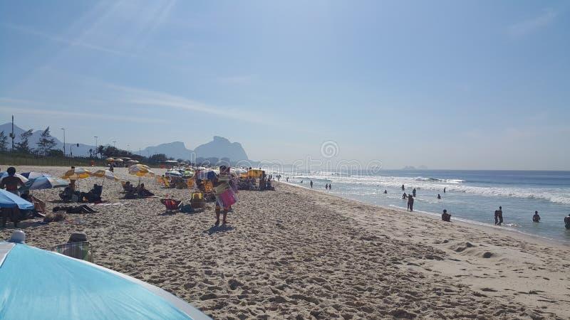 BARRA DA TIJUCA för Praia sa Reserva arkivbilder