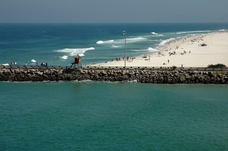Barra DA Tijuca Strand - Rio de Janeiro stockfoto