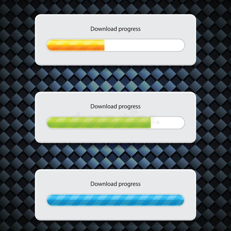 Barra da transferência do Web do progresso do Preloader ilustração royalty free