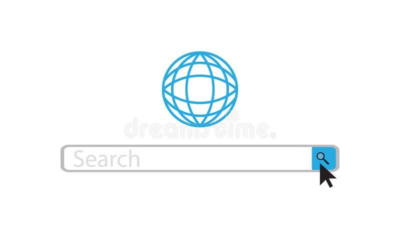 Barra da Web da busca ilustração stock