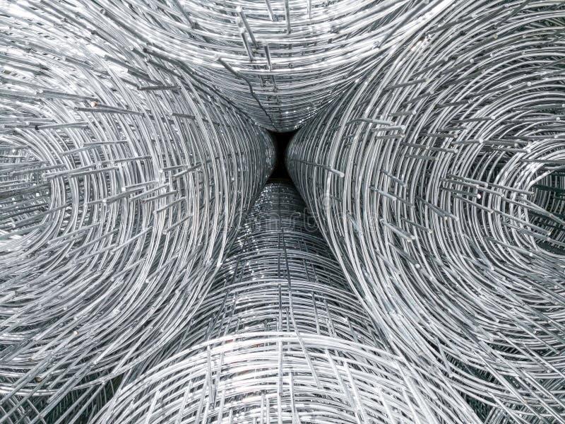 Barra de acero que se prepara para la construcción de edificios imagen de archivo