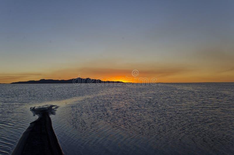 Barra de areia no Great Salt Lake imagem de stock royalty free