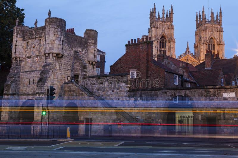Barra de Bootham e iglesia de monasterio de York fotos de archivo